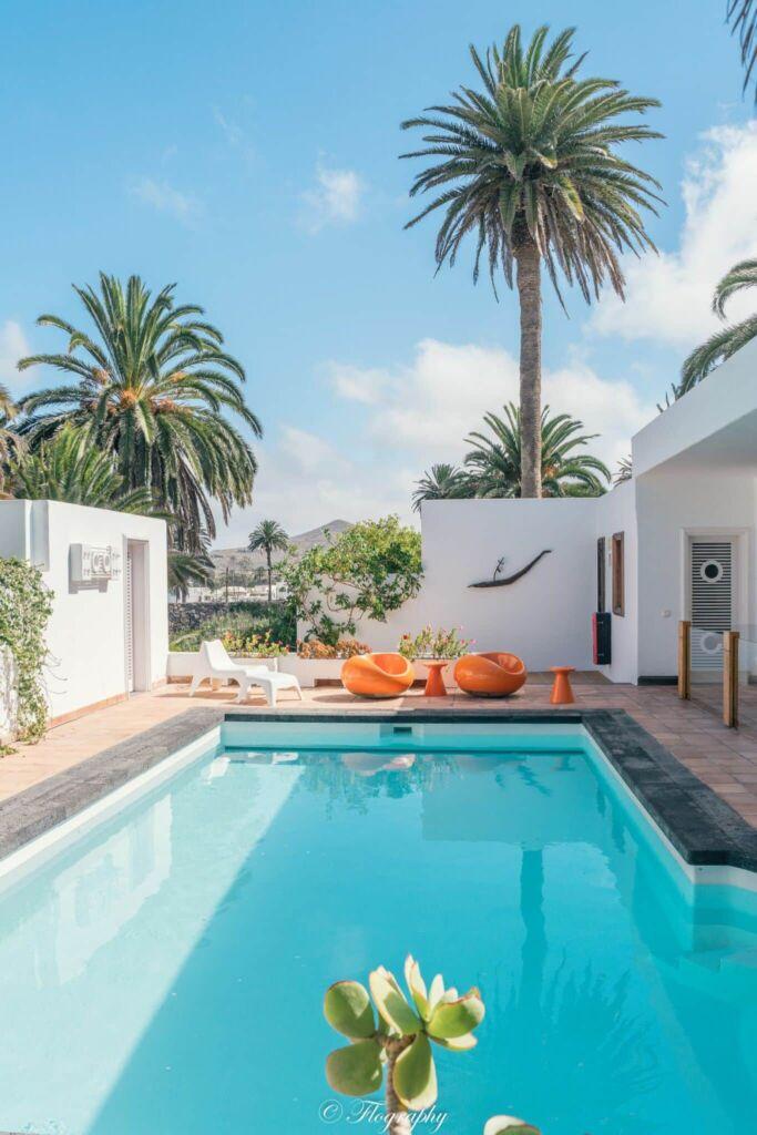la piscine des années 1970 de la maison de César Manrique à Haria Lanzarote