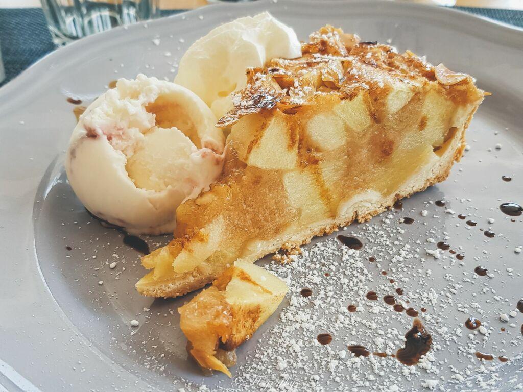 tarte aux pommes du restaurant Gusto à Lanzarote
