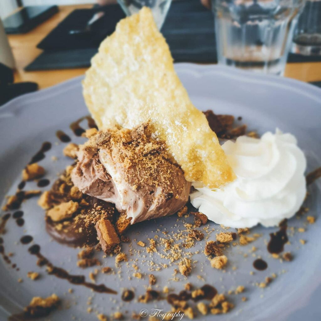 gâteau au chocolat au restaurant Gusto à Lanzarote