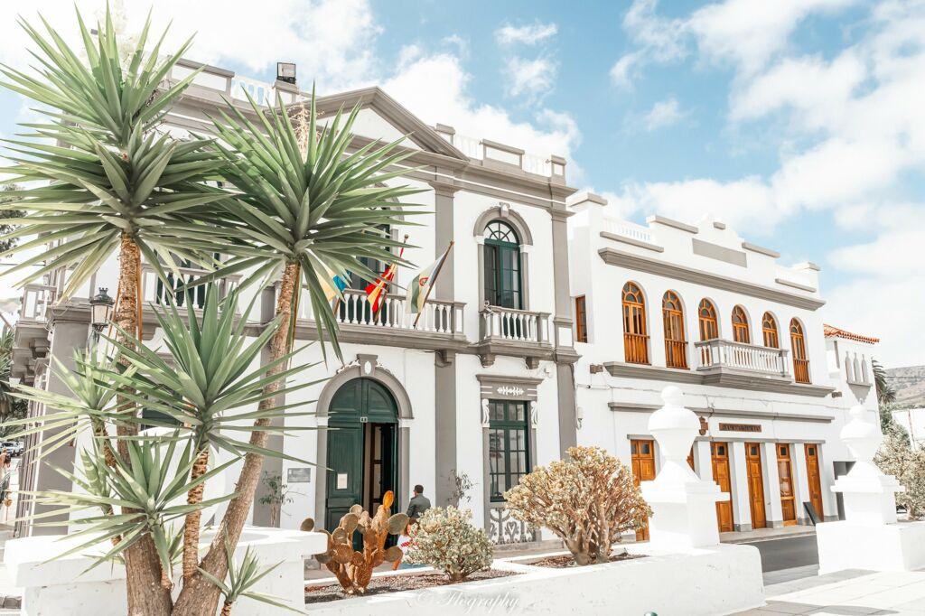 La mairie de Haria à Lanzarote aux Canaries