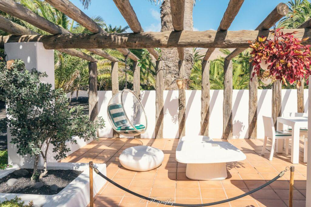 la terrasse de la maison de César Manrique à Haria Lanzarote