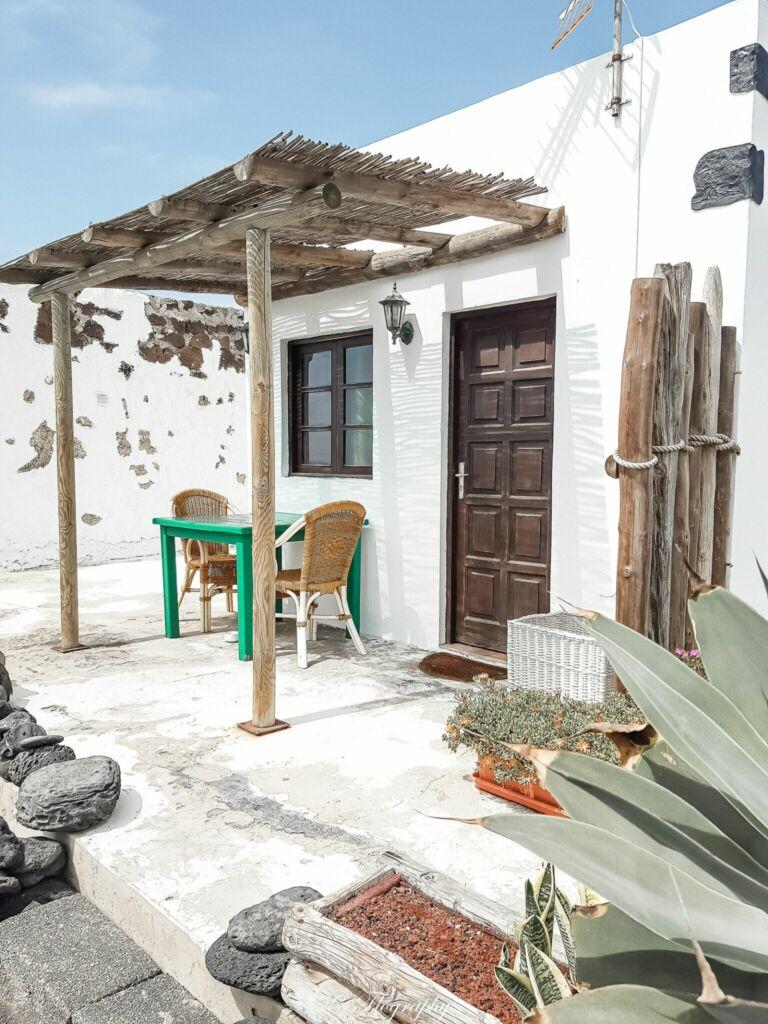 petite maison du village de El golfo à Lanzarote aux Canaries