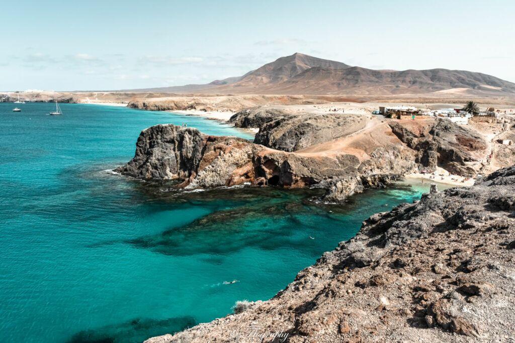 la plage de papagayo à Lanzarote aux canaries