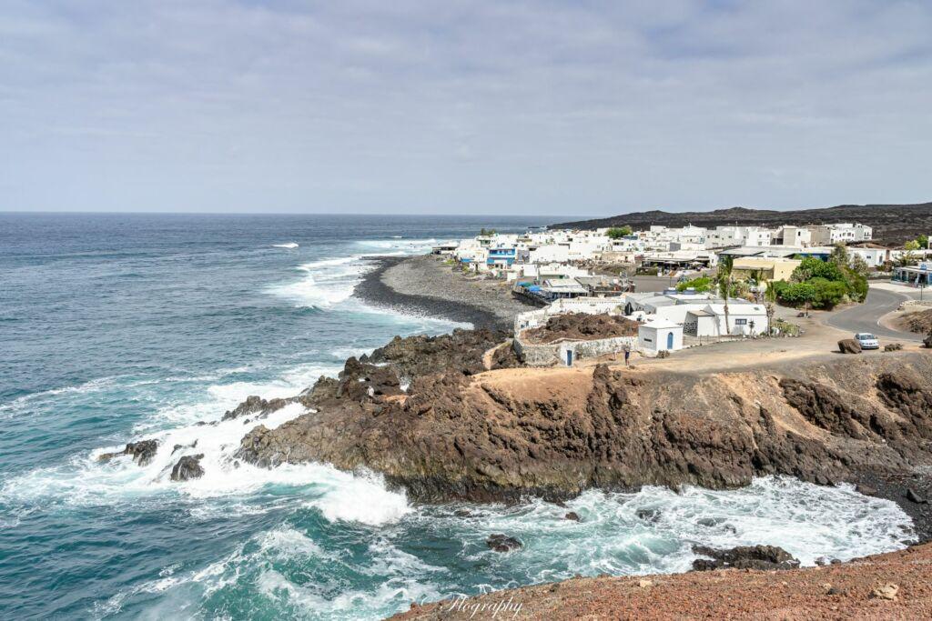le village de pécheurs de El Golfo à Lanzarote canaries