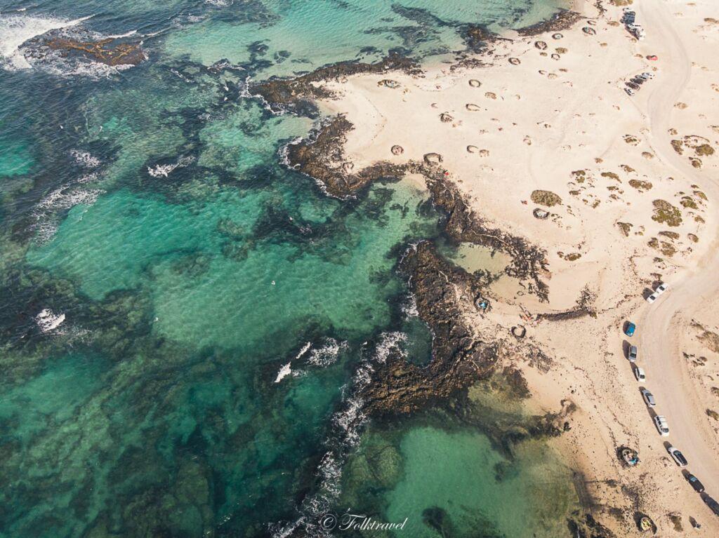 vue aérienne de Caleta Marrajo Fuerteventura