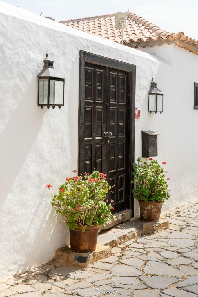 porte de maison en bois à Betancuria Fuerteventura