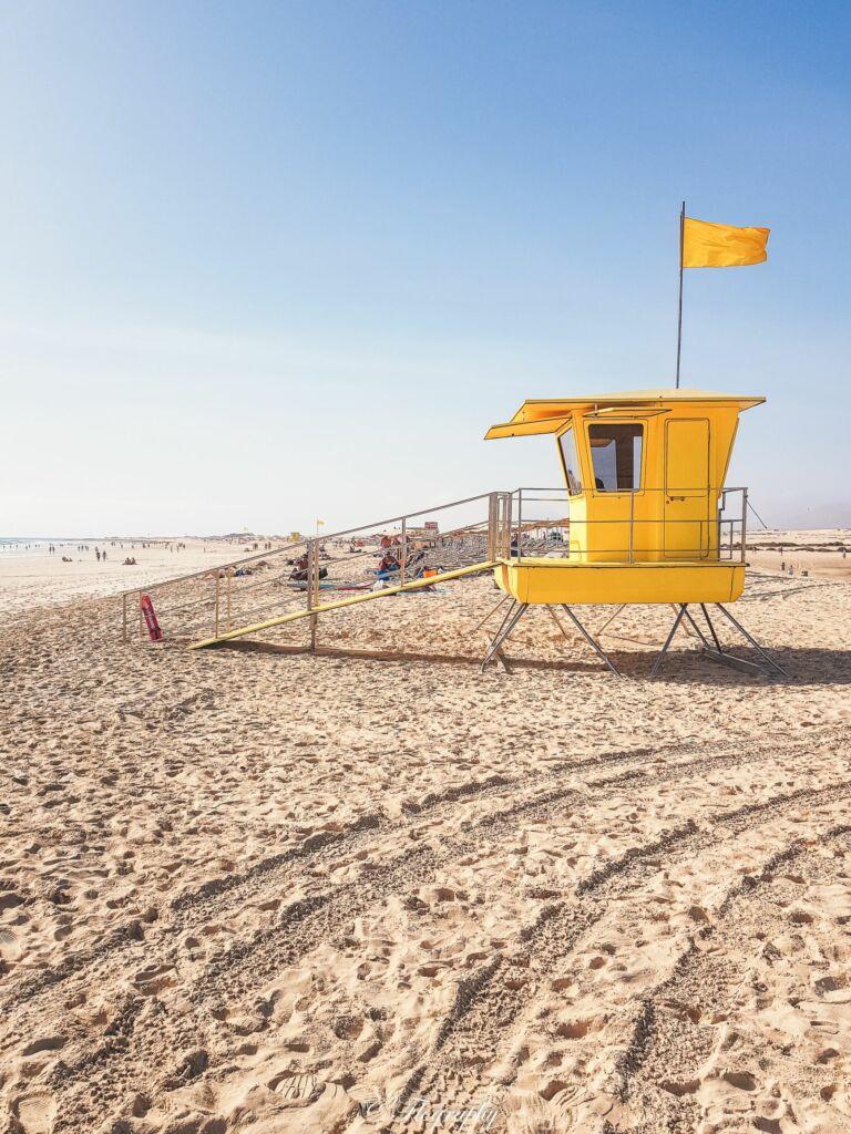 poste de secours plage des dunes à Fuerteventura