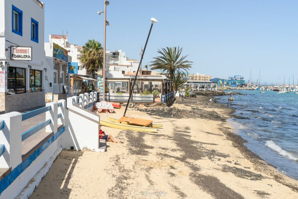 restaurant en bord de plage à Corralejo Fuerteventura