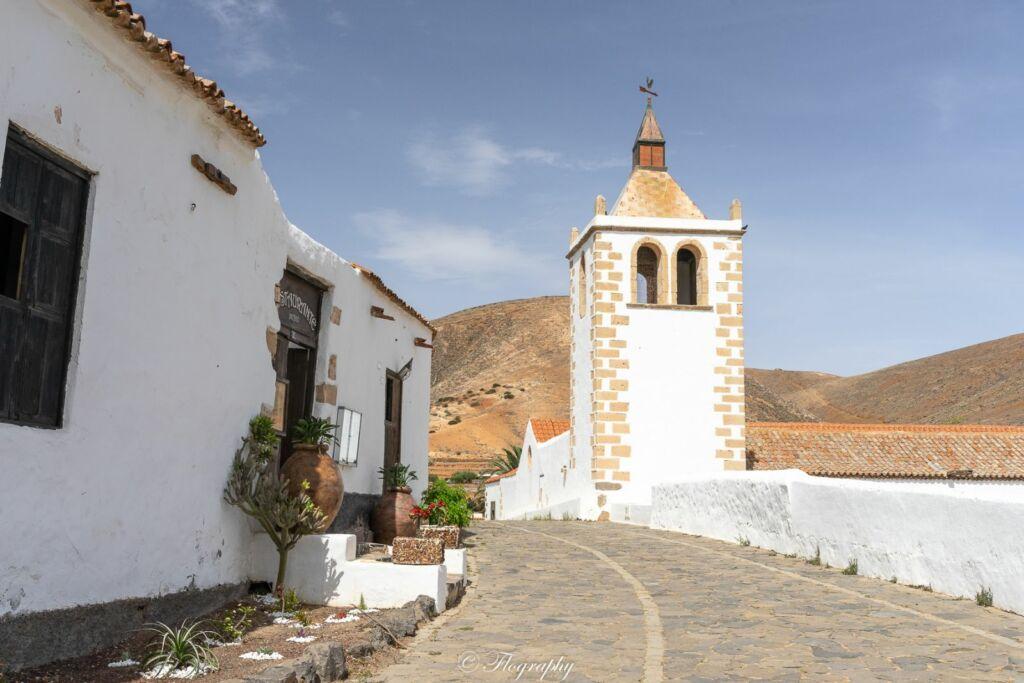 clocher d'église à Betancuria Fuerteventura