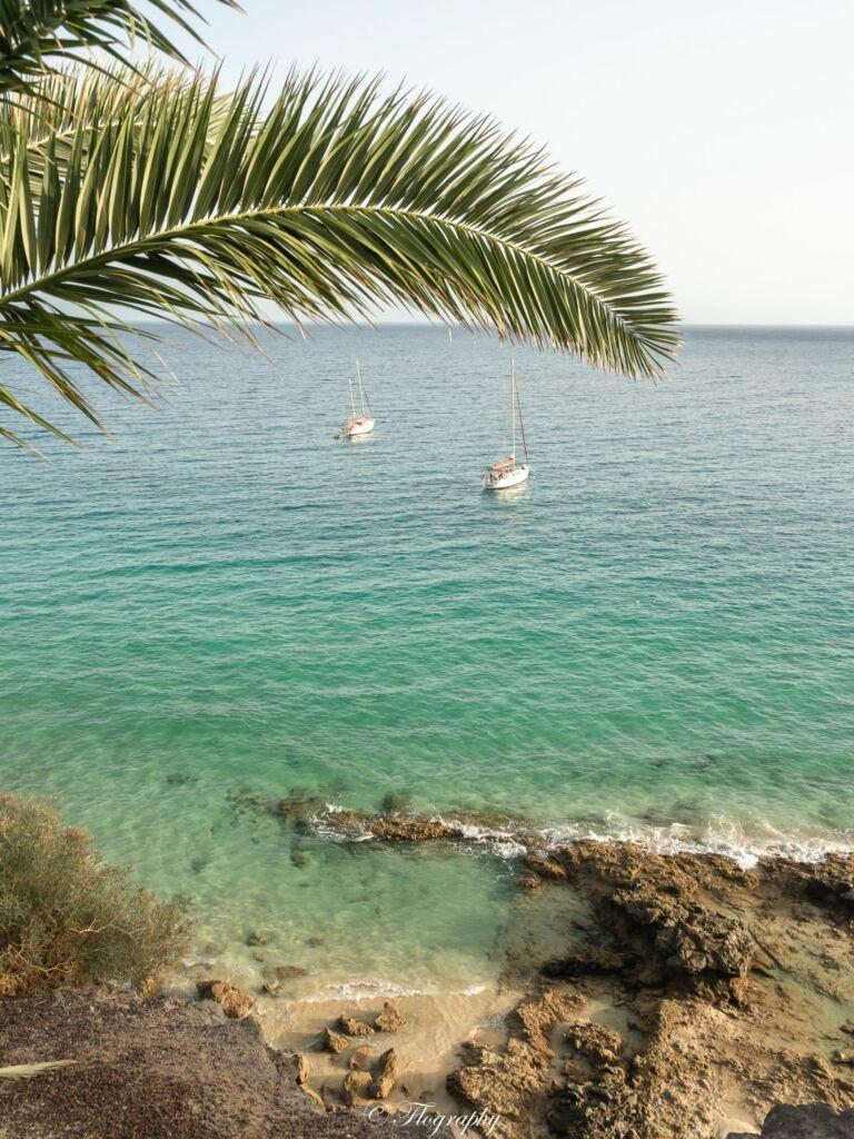 voiliers sur la mer Morro Jable Fuerteventura
