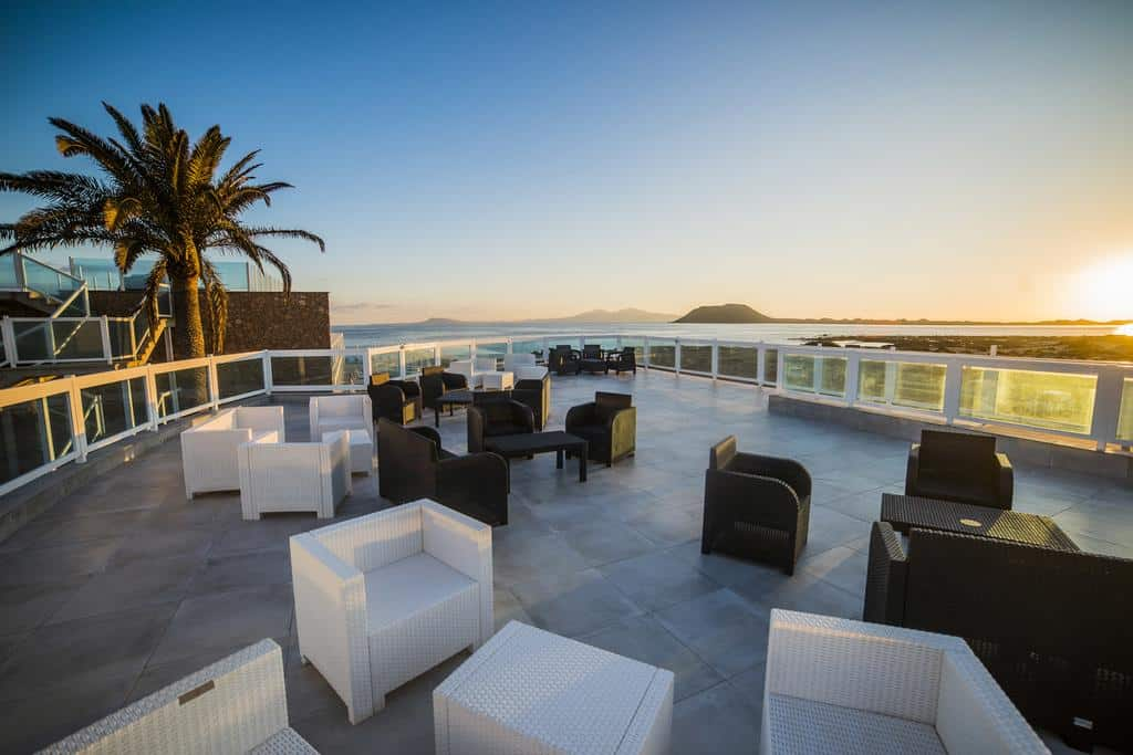 terrasse rooftop de l'Hôtel Boutique TAO Caleta Mar Corralejo