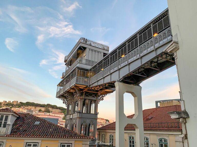 Ascenseur santa justa à Lisbonne