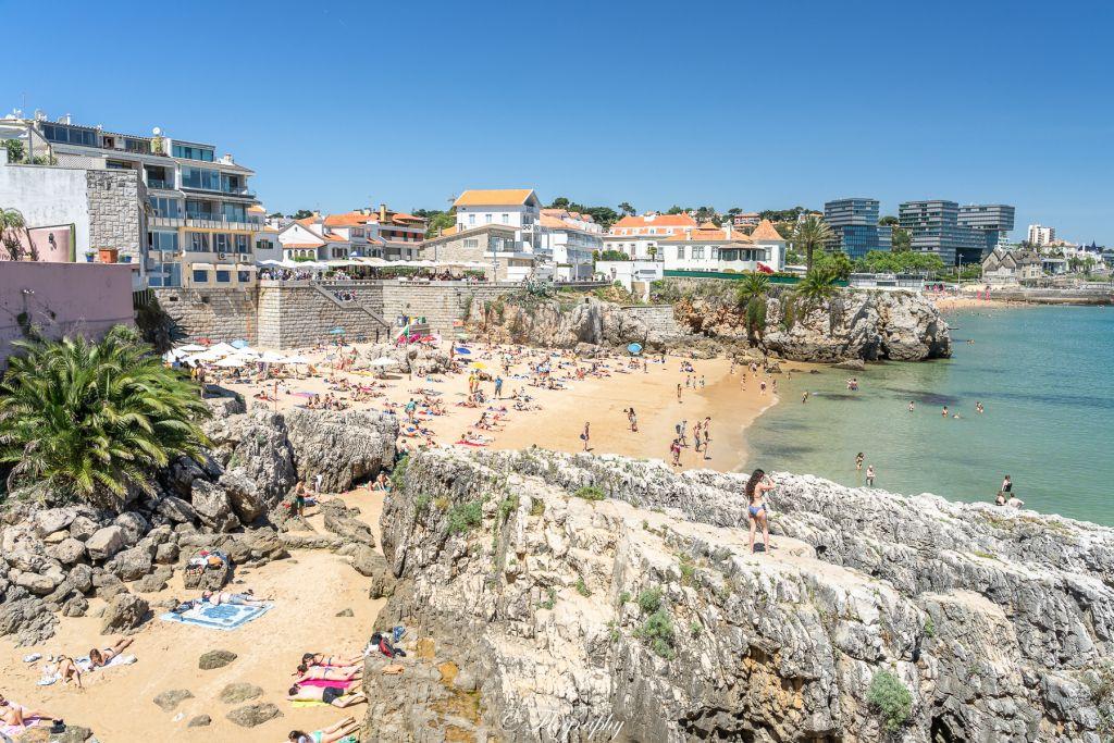 Beach-cascais rock-portugal