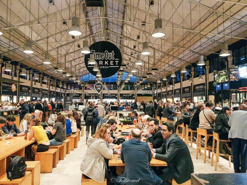 Restaurant de Time out market à Lisbonne