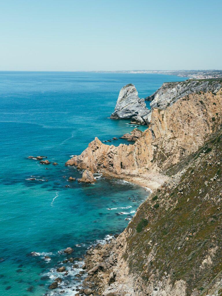 Vue sur Cabo da Roca au Portugal