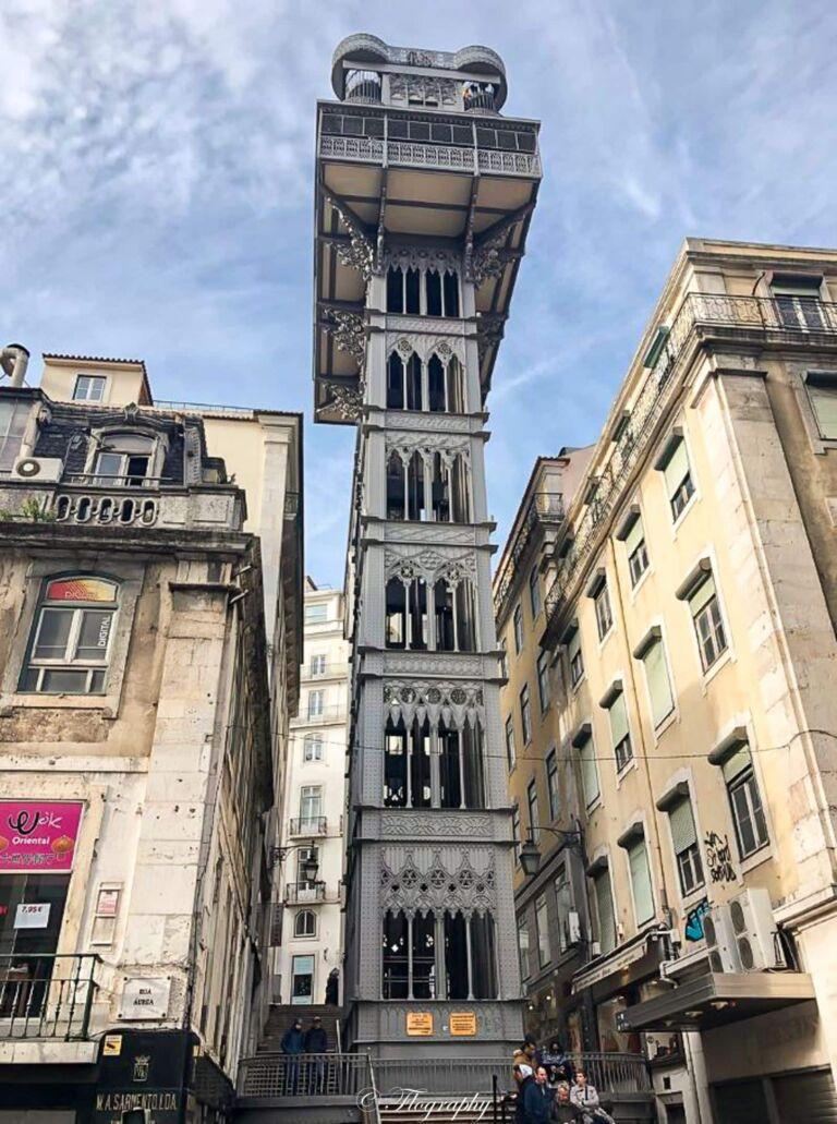 élévateur de Santa Justa à Lisbonne