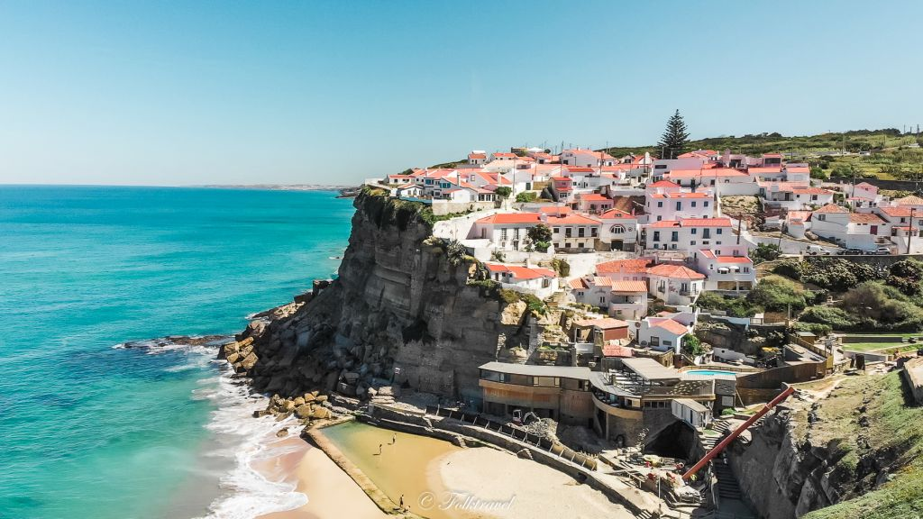 azenhas do mar portugal seaside village on the atlantic coast below Ericeira