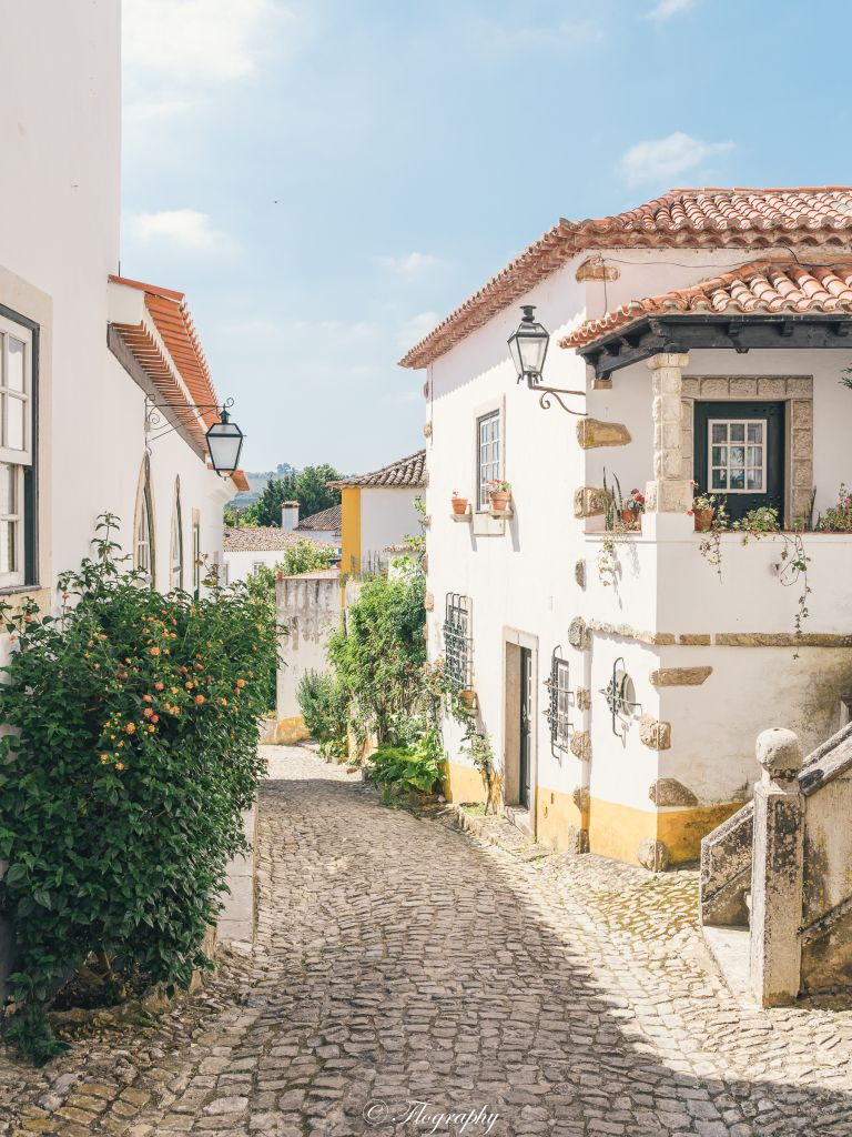 Obidos-house-portugal-yellow-alley-medieval