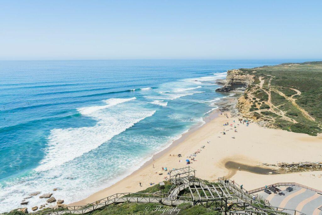 plage Ribera d'illas pour le surf au Portugal
