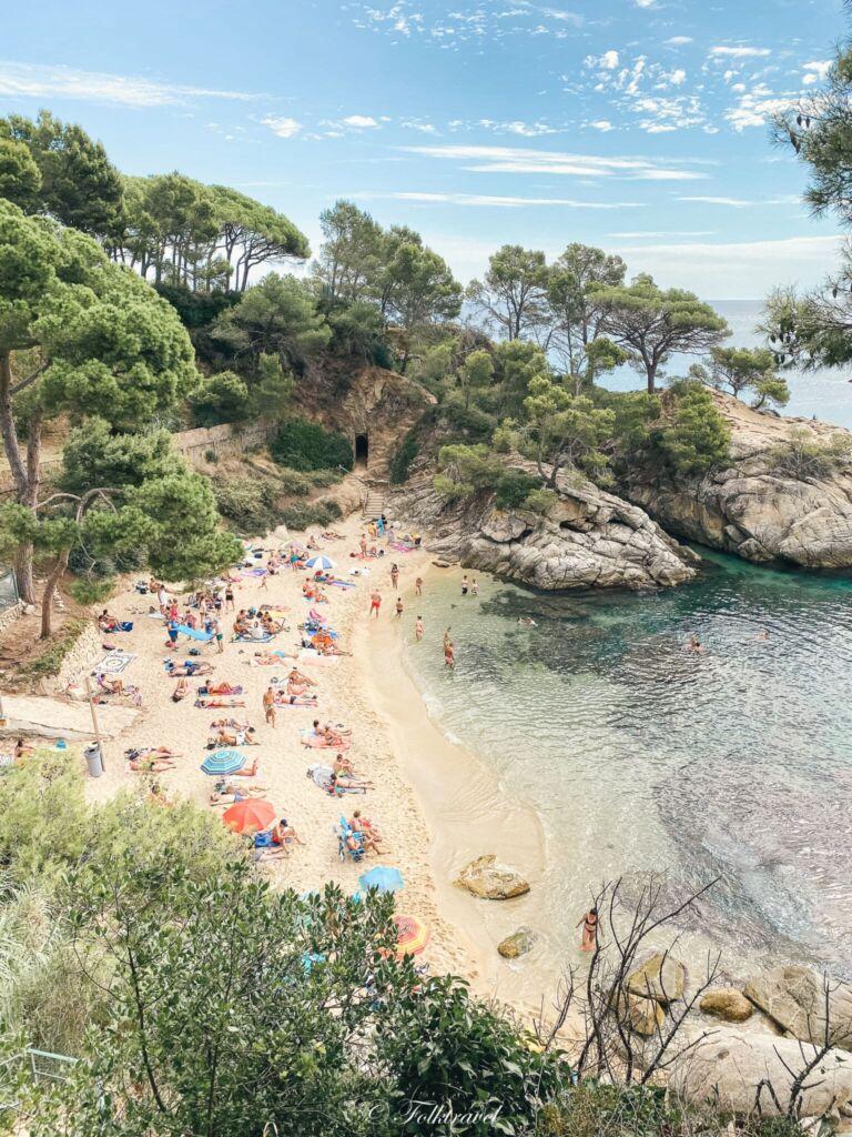 Castell-Platja d'Aro petite plage crique catalogne espagne
