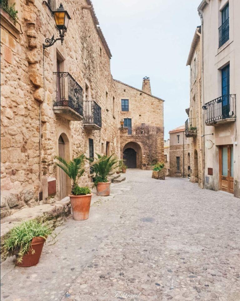 Pals village de catalogne en Espagne