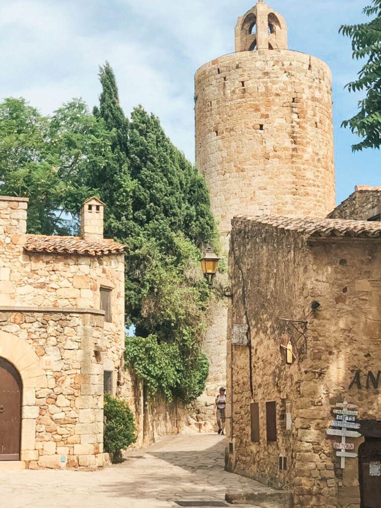 village ancien medieval catalogne catalunya espagne