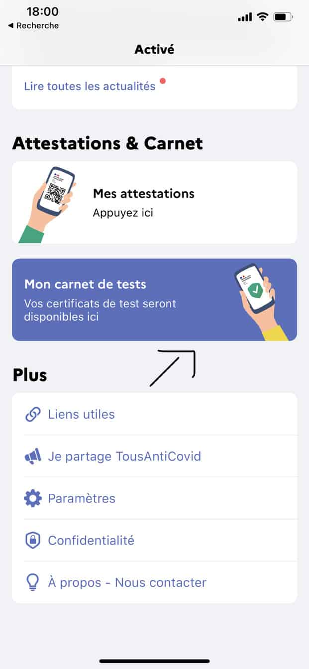 Certificat numérique pass sanitaire pour la France