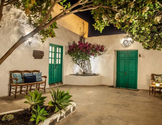 cour intérieur de l'hotel Los Lirios à Lanzarote