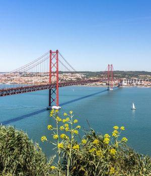 pont du 25 avril à Lisbonne depuis le Cristo Rei