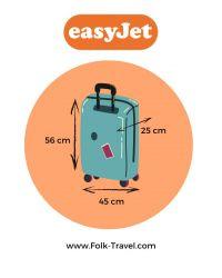 valise cabine easyJet pour voyage en avion
